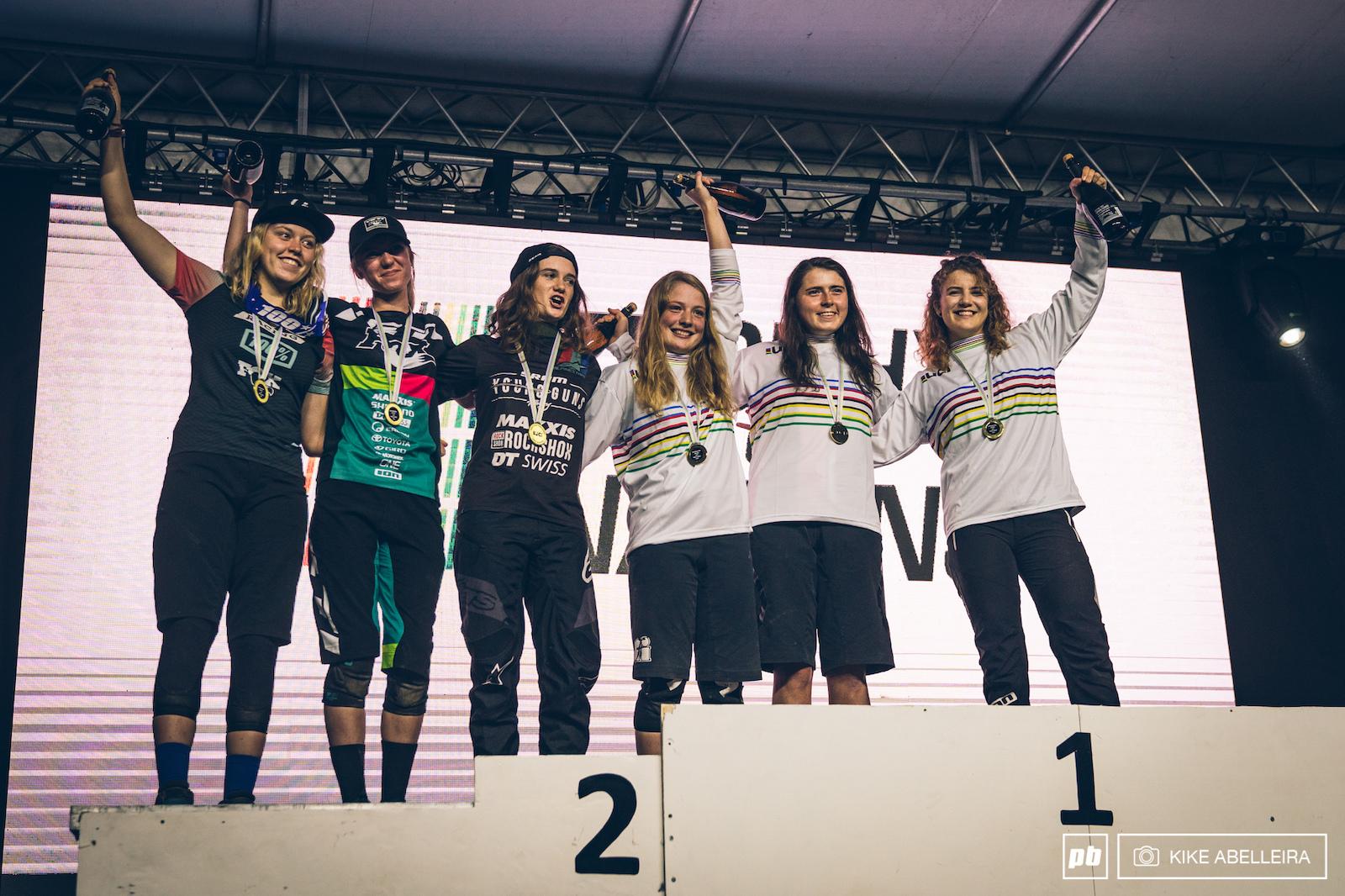 Your TON 2019 U21 women podium.