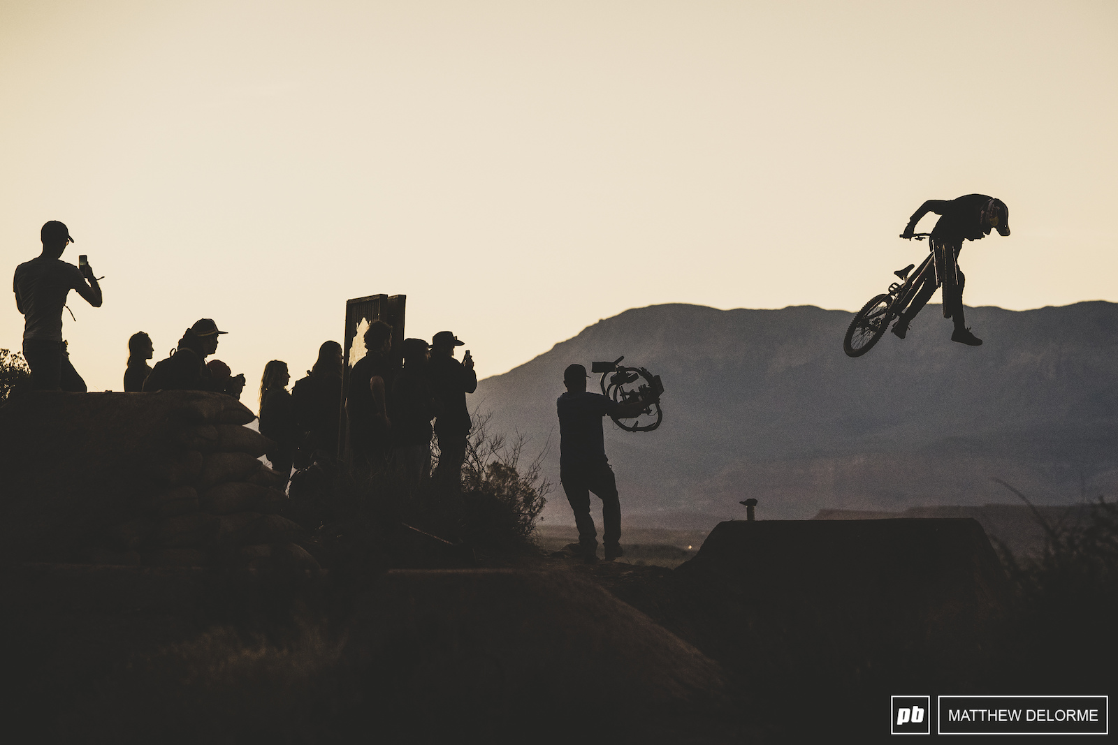 Brandon Semenuk started tricking right off the bat this evening on the lower section of his line.