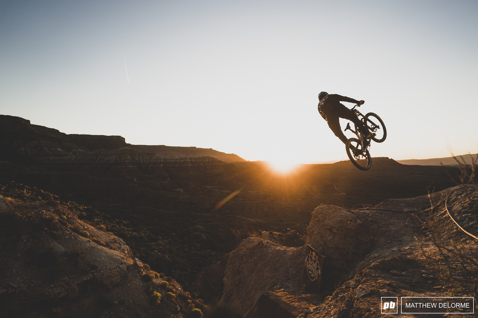 Cam Zink makes one last run into the setting sun.