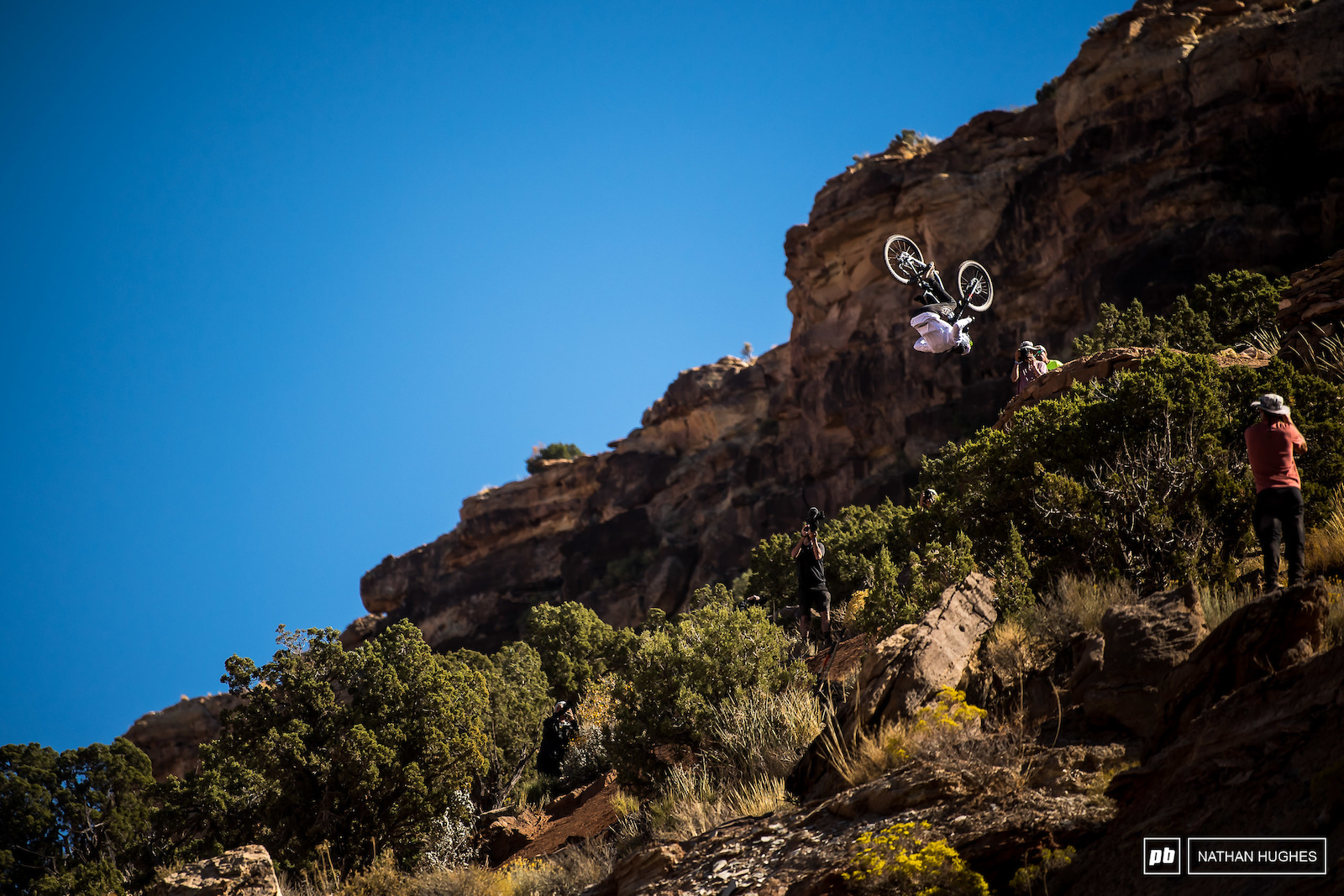 A front flip from Tom Van Steenbergen was definitely the move of the day during the top drop session.