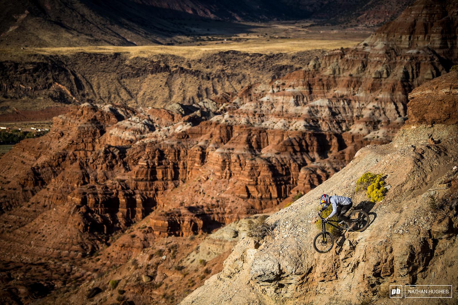 Godziek blending in to the epic Utah terrain.