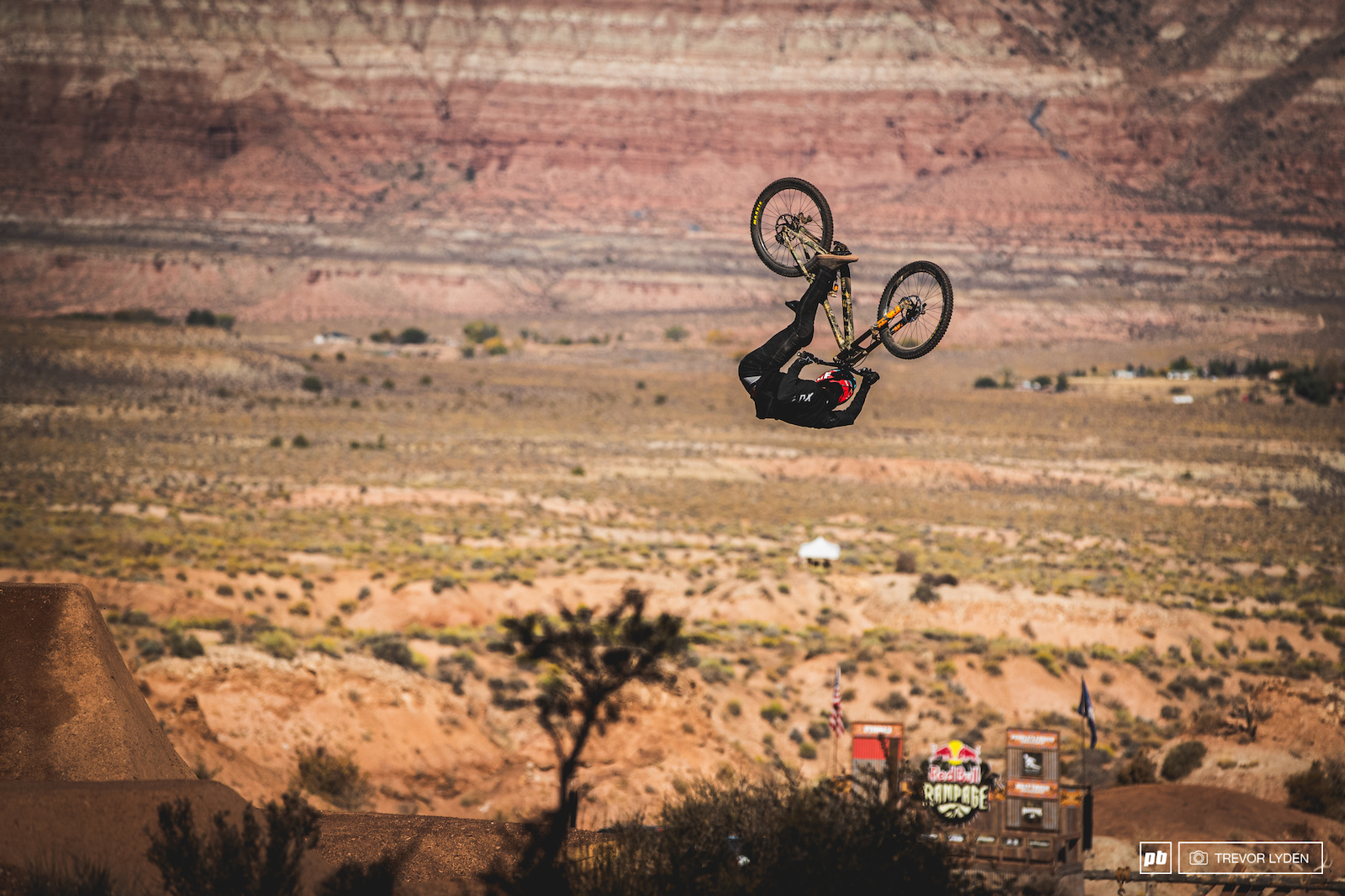 Brett Rheeder with a backflip look through.