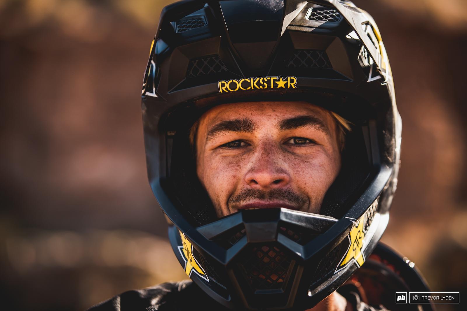 DJ Brandt with his brand new Rockstar helmet.