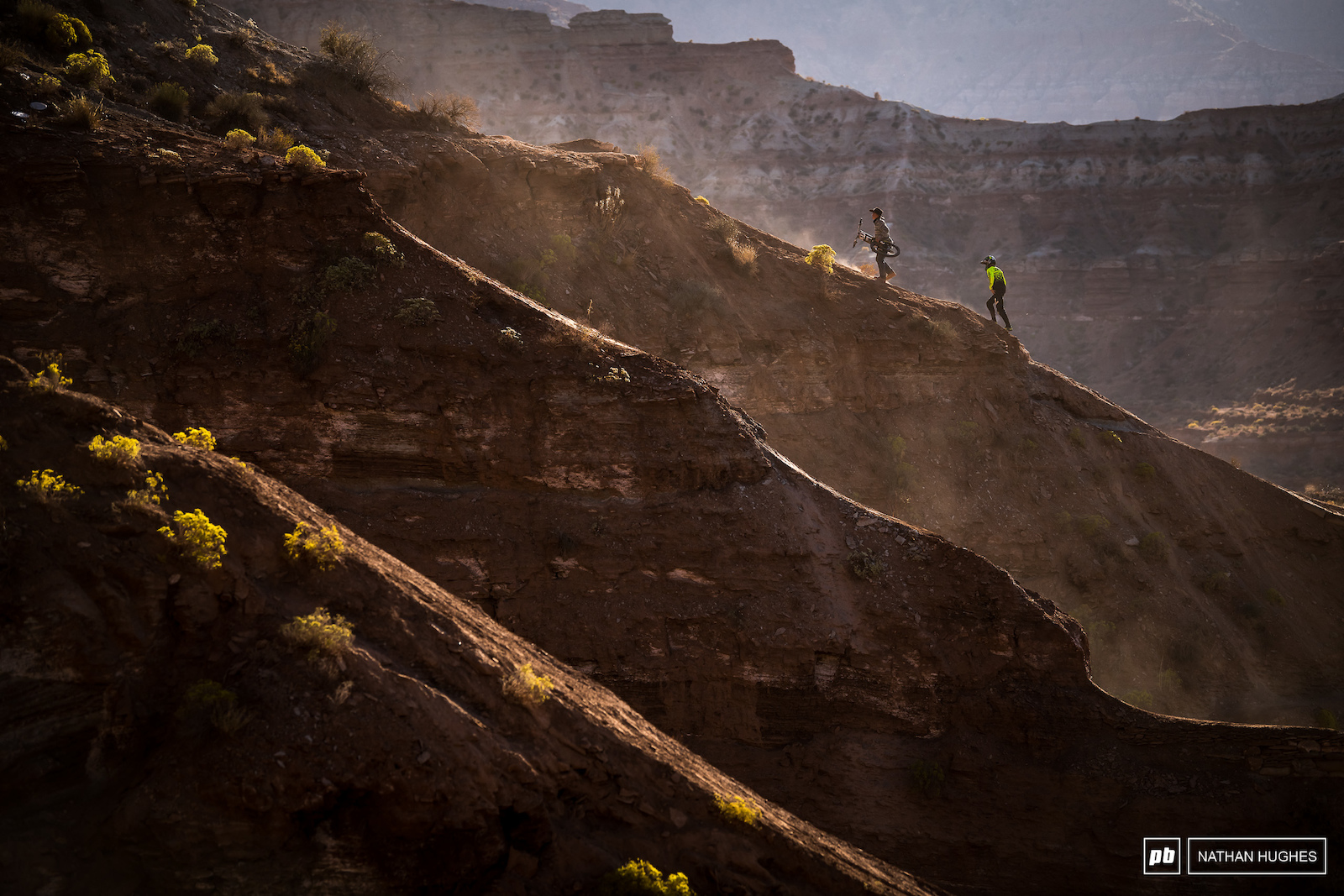 MTB giant Cam Zink dwarfed by Utah the magnificence.
