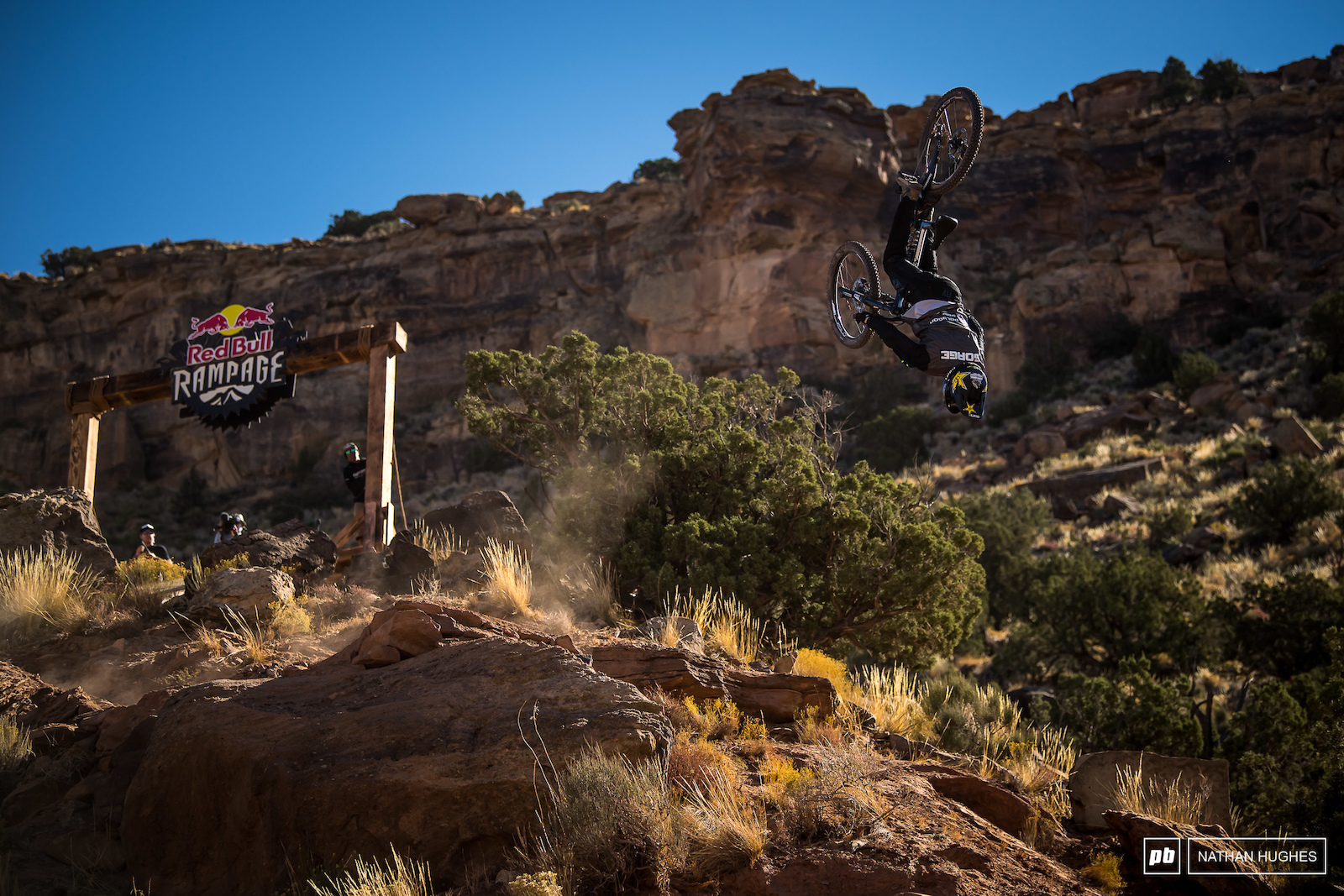 No cigar this year for Sorge who started strong but ended his Rampage hopes front wheel casing after a tuck-no-hander yards from the finish corral.