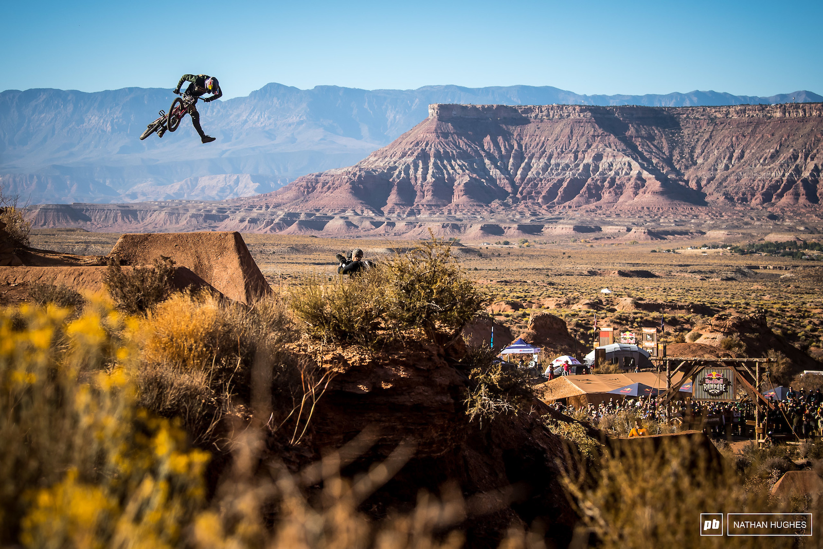 Semenuk putting the icing on the cake for Rampage 2019 on his victory lap.