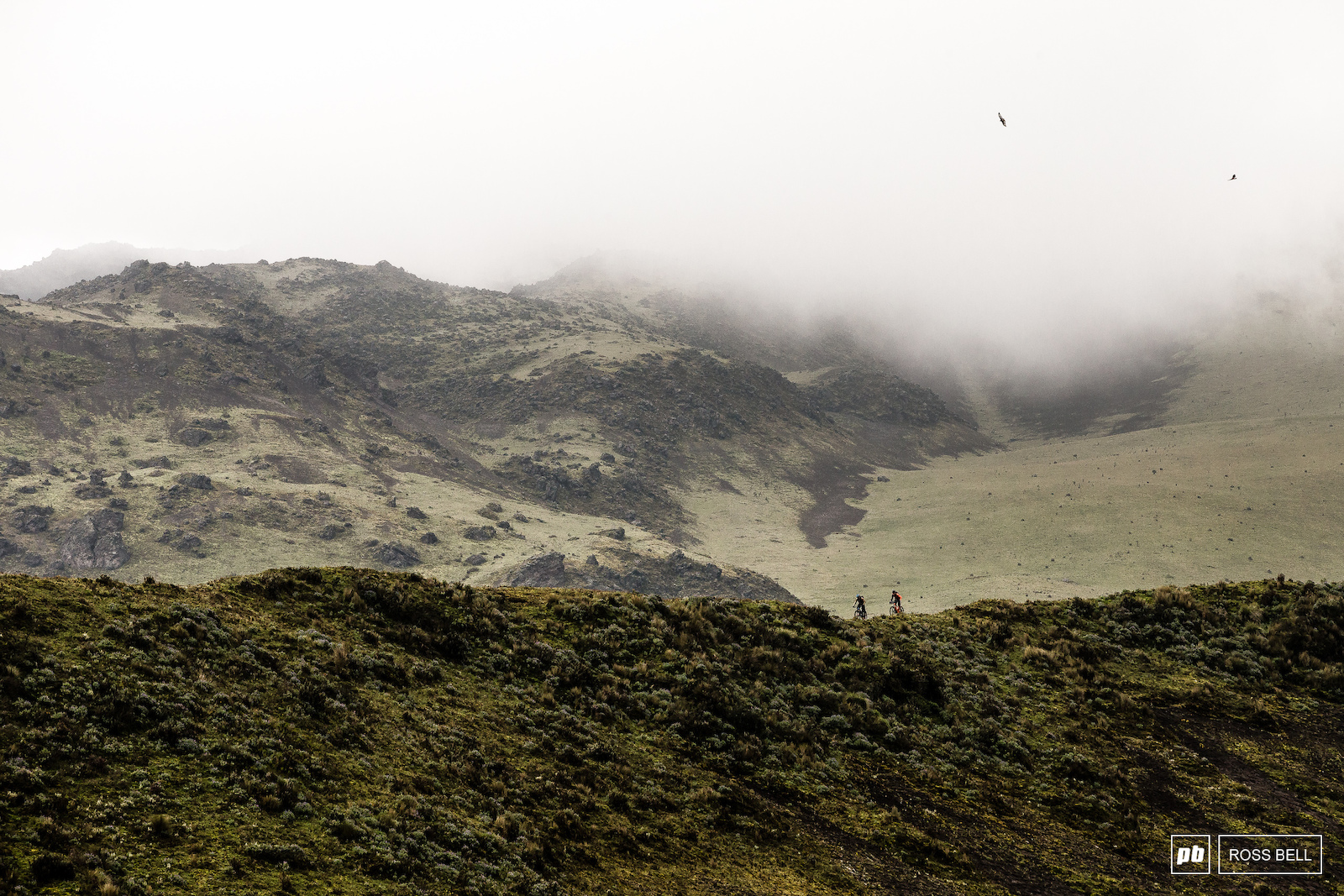 Scotty Laughland chases Thomas Vanderham down Heaven s Ridge in the Cotopaxi National Park in Ecuador.