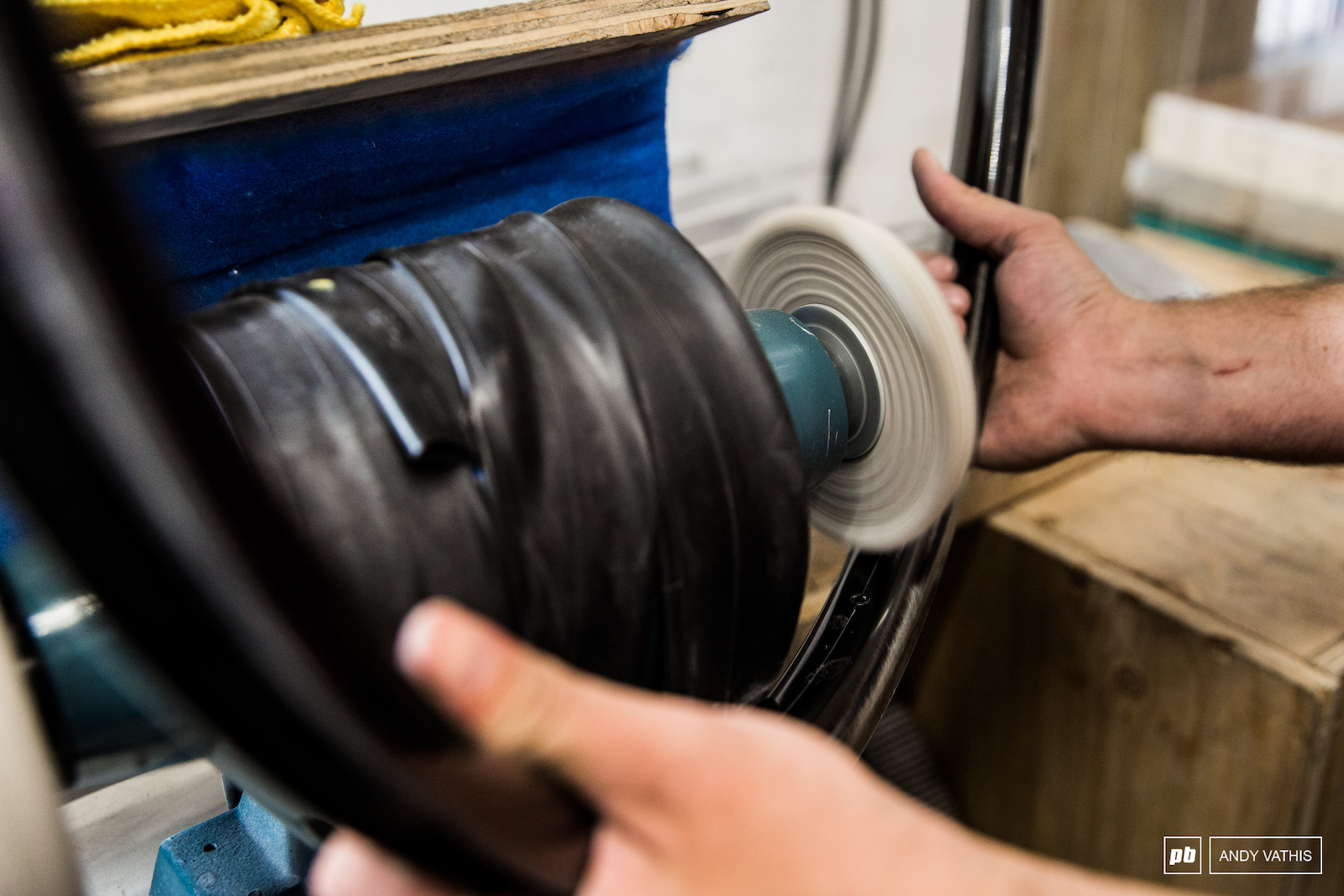 The only finish the rims get after being removed from the molds are a good buffing to remove any leftover materials. That s it. no paint no nothing. It s way more cost effective this way and much better for the environment with the absence of harmful chemicals that come with paint and prep.