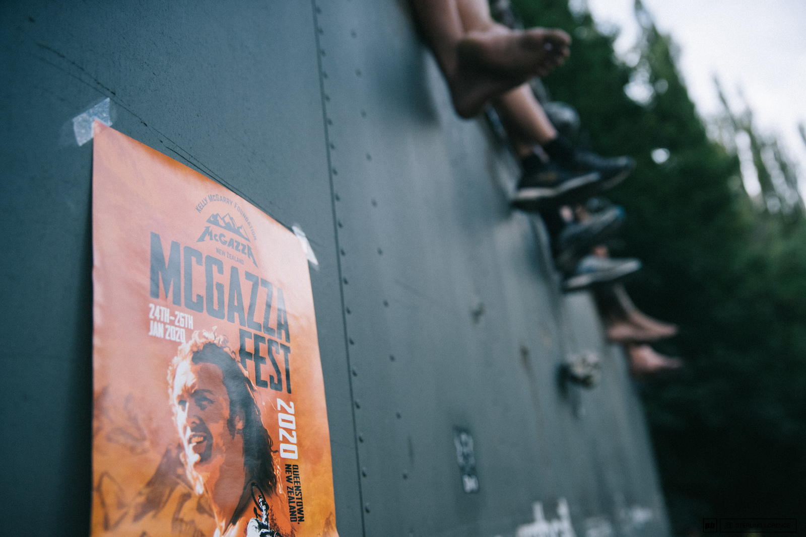 Celebrating Kelly McGarry at McGazza Fest 2020 in Queenstown New Zealand