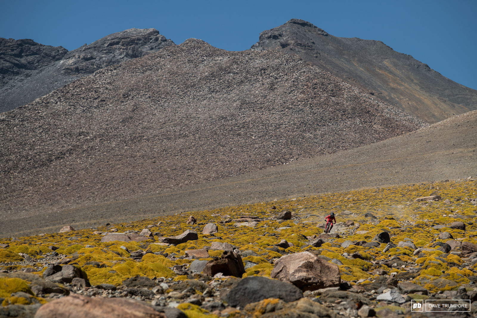 Romain Paulhan through some rare color in the Andes