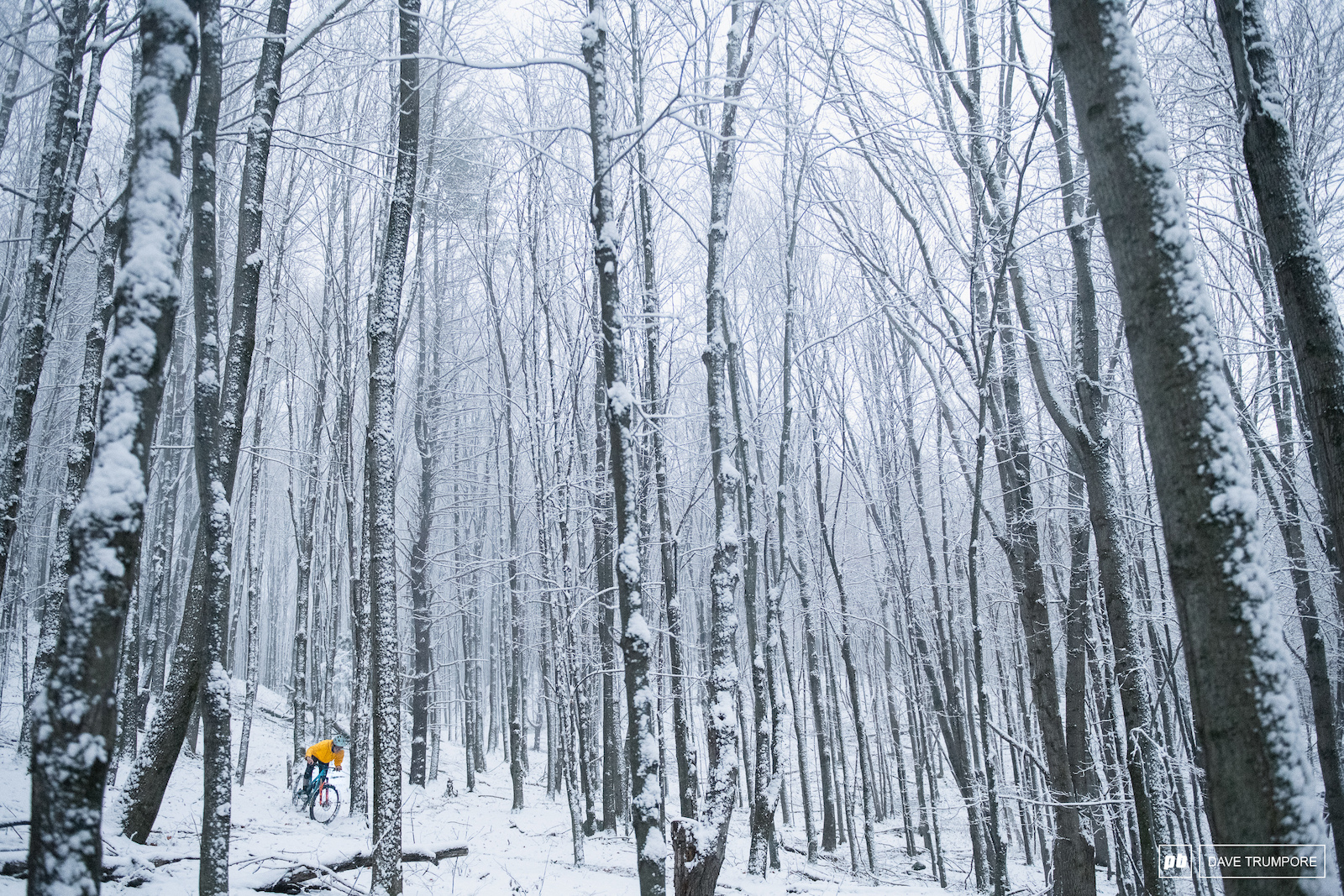 The first snow if the year came early this past fall in Vermont. With good dirt still just below Evan Booth enjoys some unique mixed conditions.