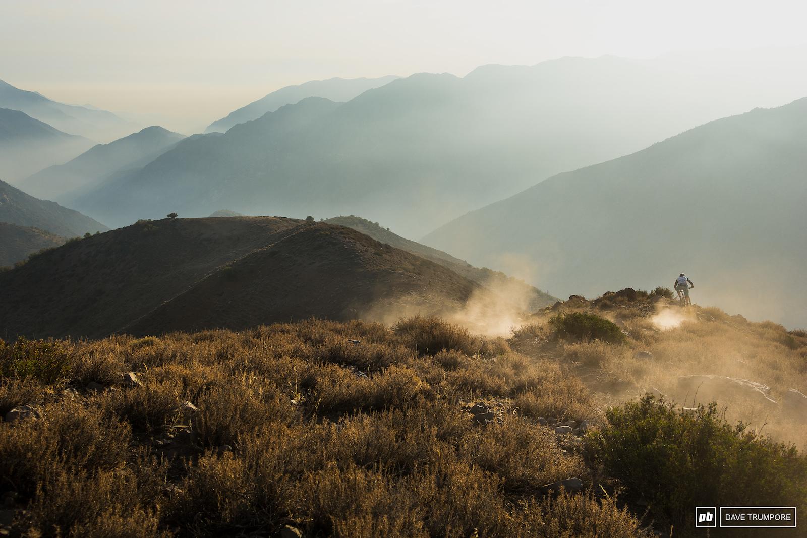 Jared Graves Parvazo Trail below La Parva Chile.