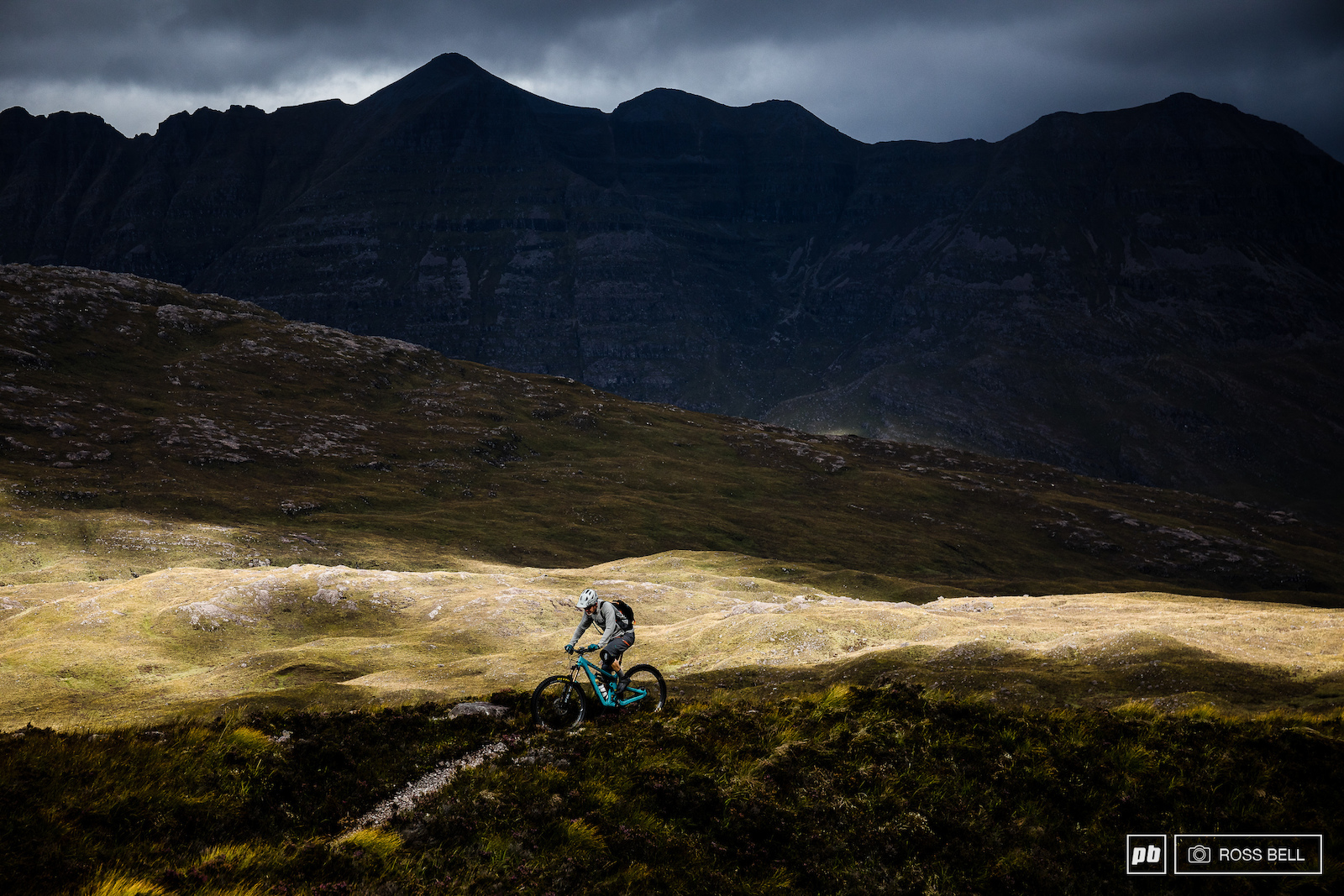 Chris Conroy enjoying some typically Scottish conditions in the Torridon valley.