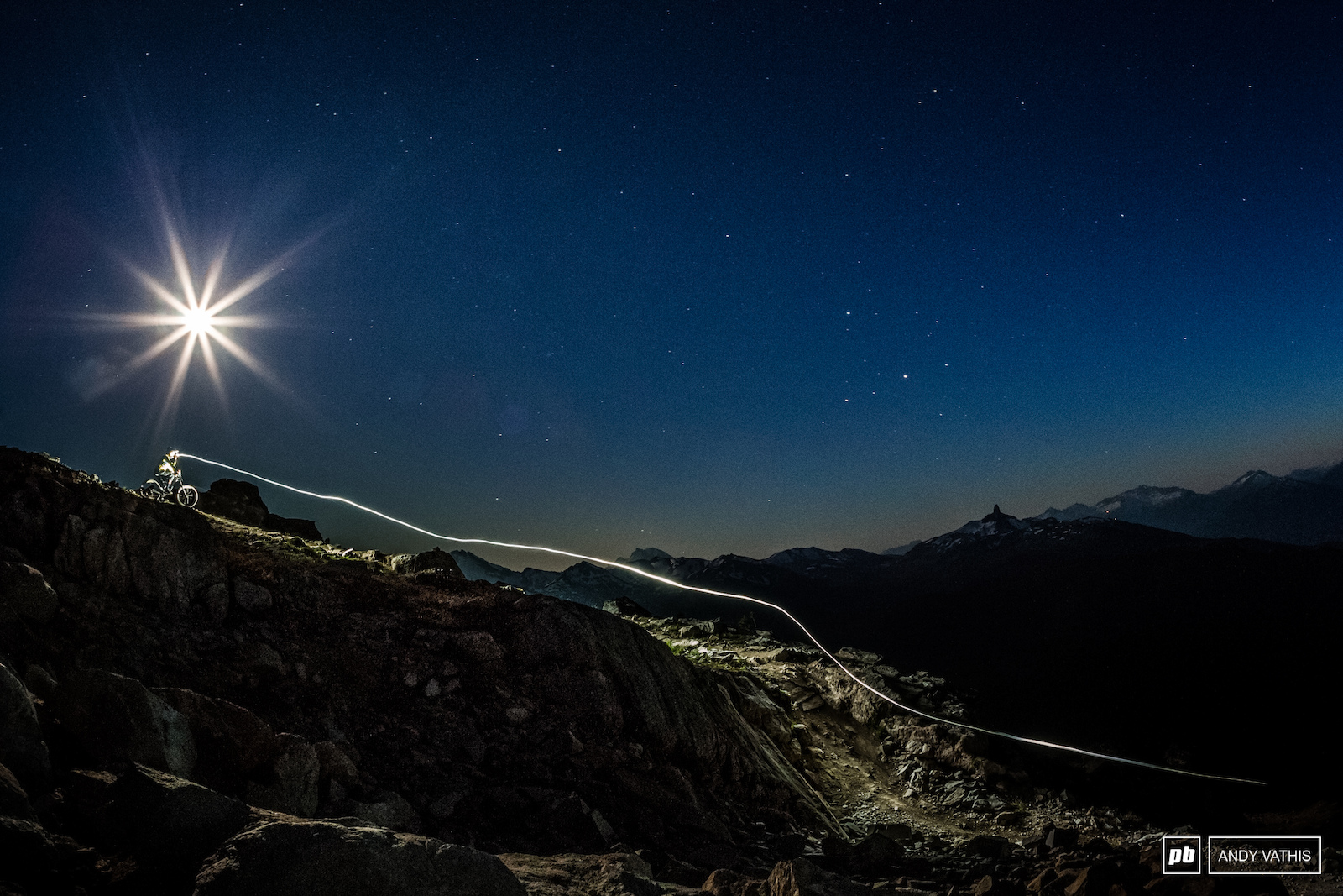 On top of the world with the moon and stars as guides.