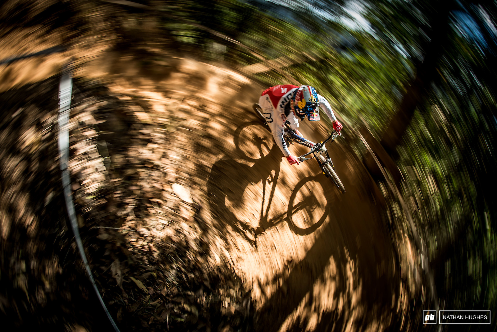 Loic Bruni hammering the upper switchbacks at the Cairns World champs he would later go on to win.
