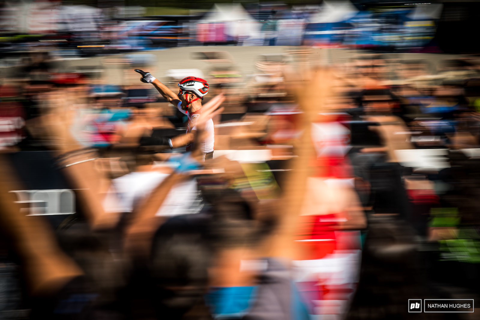 Nino celebrating before the line en route to becoming World Champ just one more time last season in MSA.