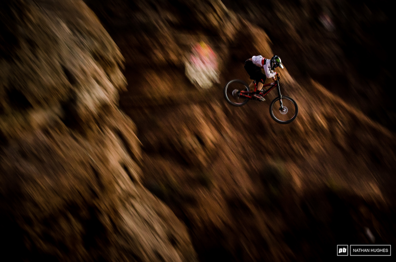 A Cam Zink down-pan shortly before nightfall while guinea-pigging the biggest drop on his line.