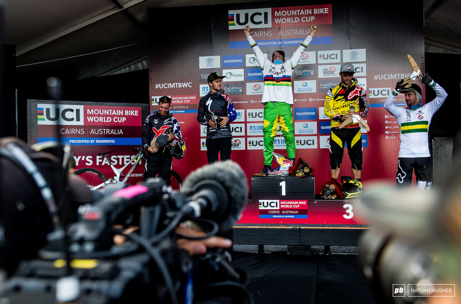 Loic Bruni taking the win the year before the Cairns World Champs.