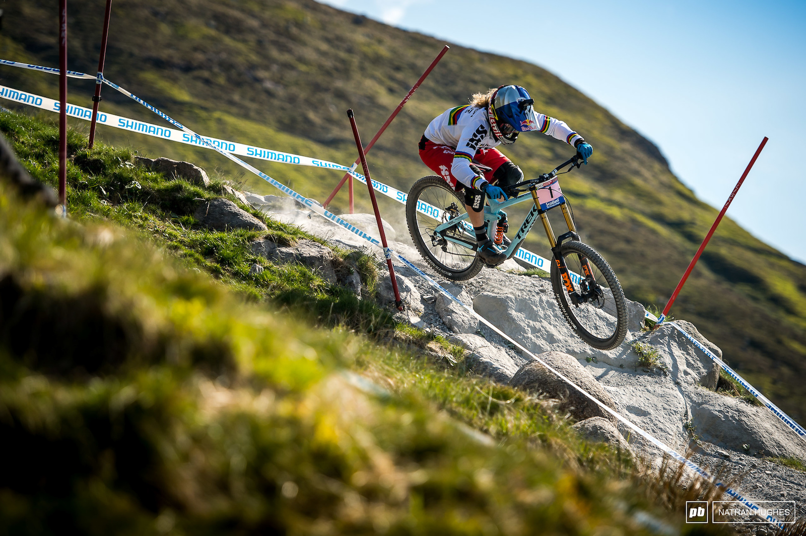 Rachel Atherton storming across the moors to Victory at Fort William 2016.
