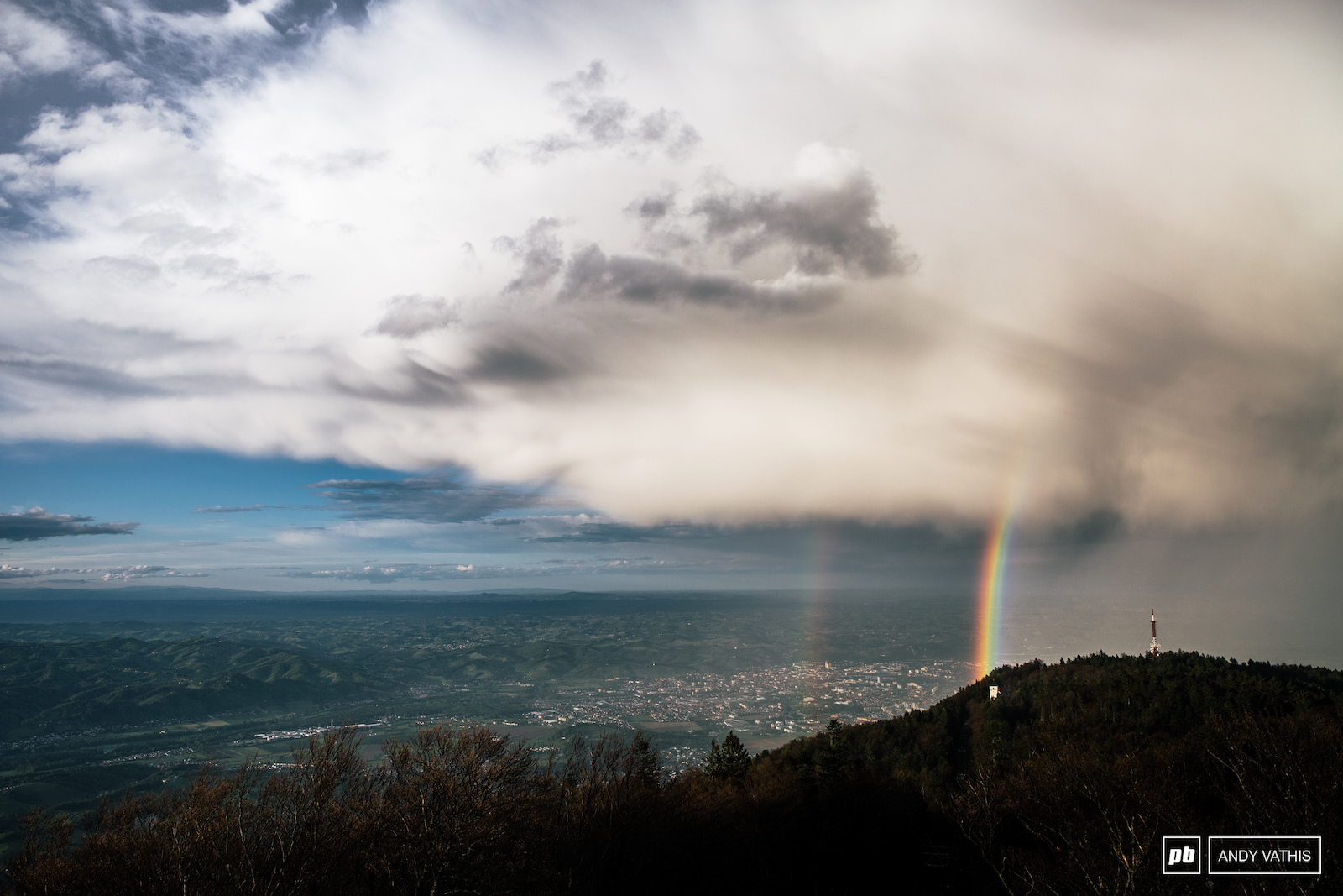 Storms pass through Maribor leaving behind an epic show of colours.