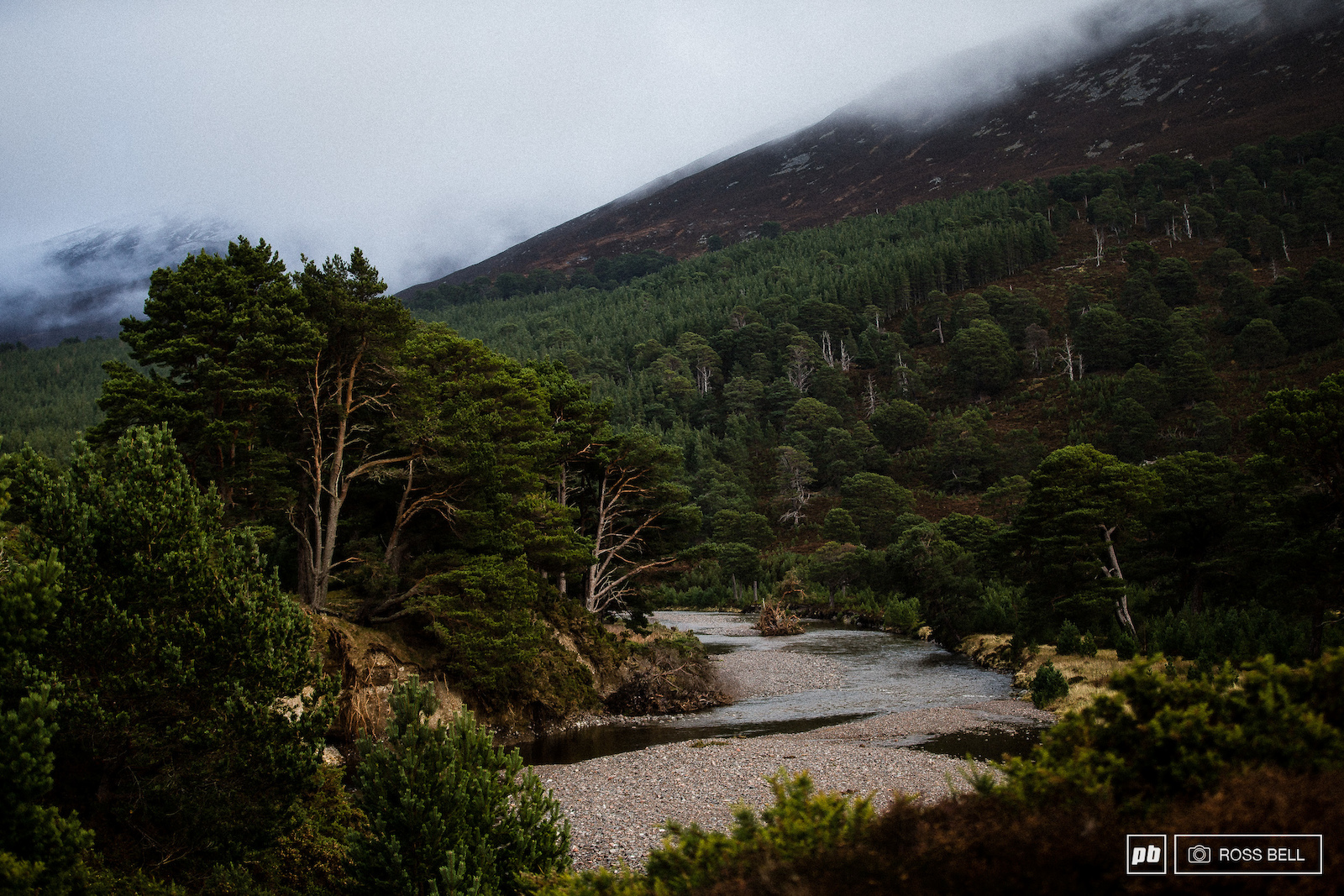 Glen Feshie in the Cairngorms National Park Scotland.