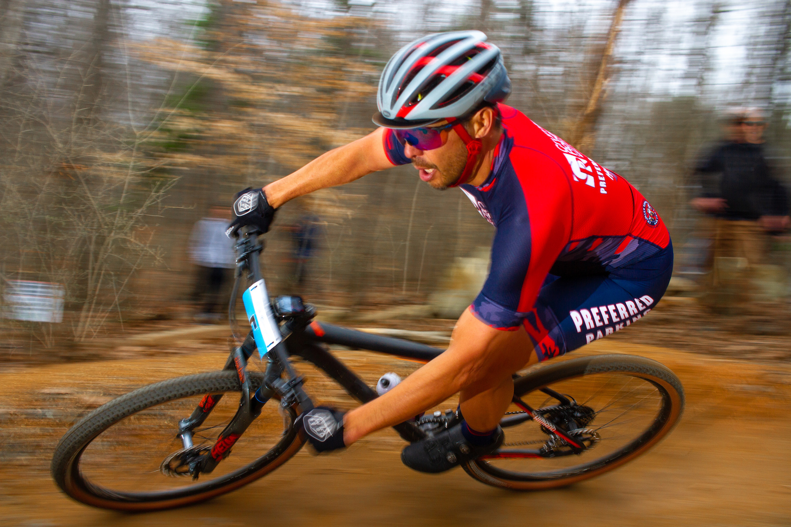 BMX and Downhill Legend racing XC in Charlotte NC. February 2020.
