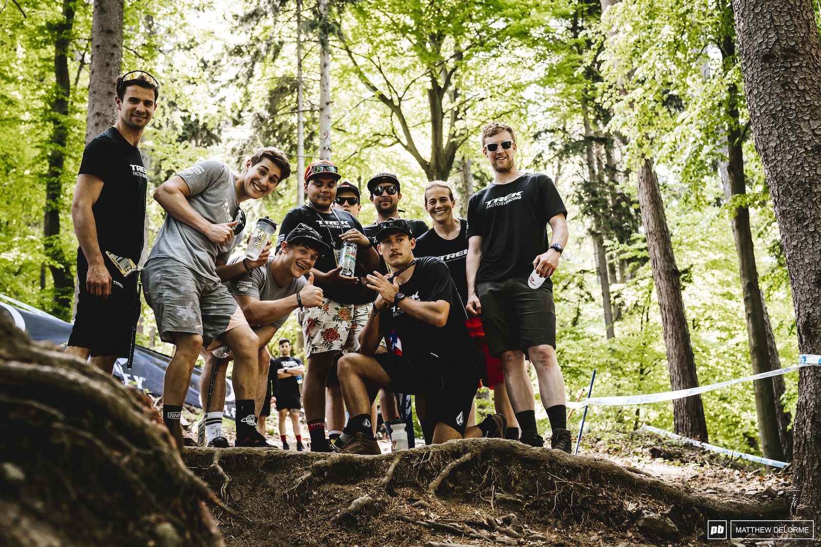The newly formed Trek Factory Racing team. Fresh faces and big plans were in the works for this crew.