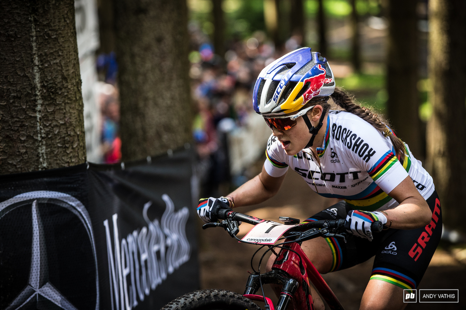 Kate Courtney was two for two after her strong performance in Nove Mesto going into the break in 2019.