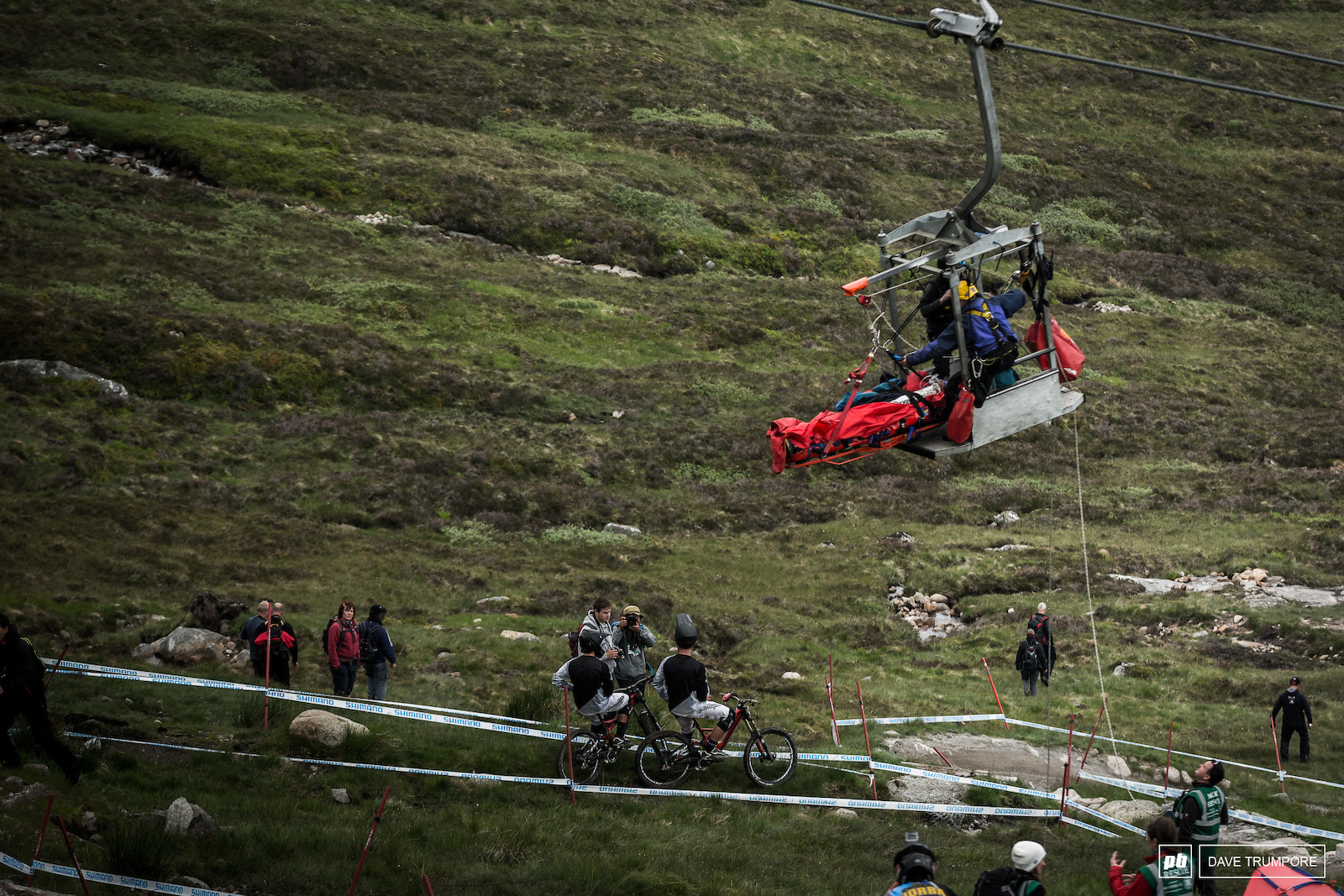 Not an uncommon way of the mountain after a big crash.