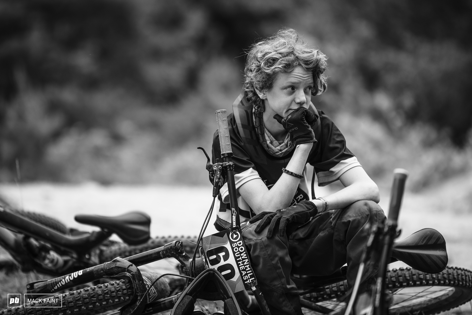 Owen trying to mentally dial in his lines before his run he ended up 9th in a stacked Cat 2 3 Men 0-14 class.