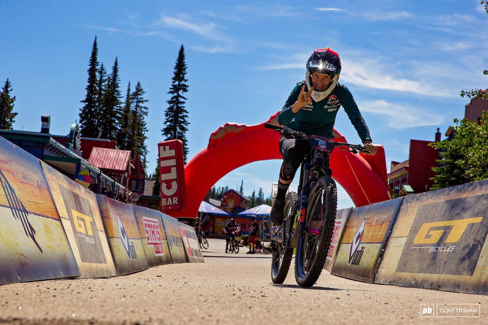 Vaea Verbeeck riding Rocky Mountain