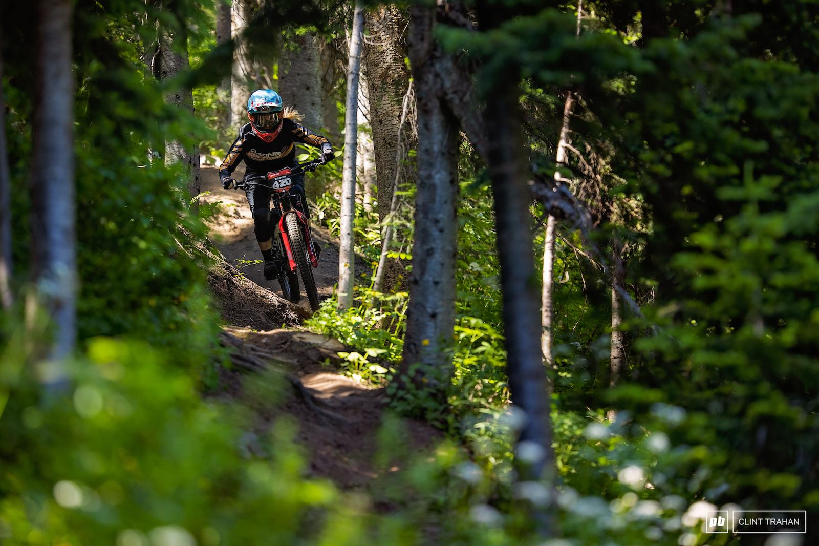 Casey Brown riding Trek