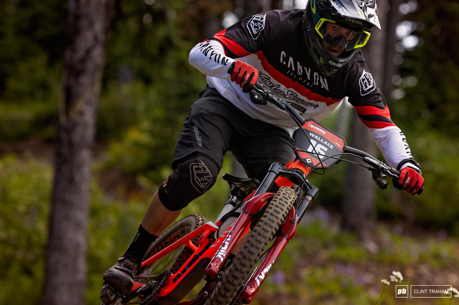 Mark Wallace riding Canyon