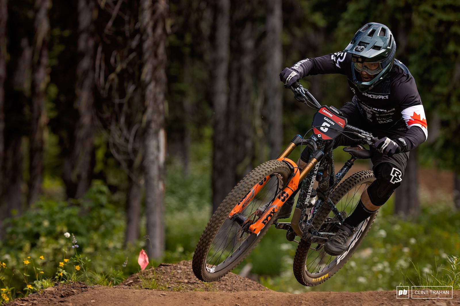 Remi Gauvin riding Rocky Mountain