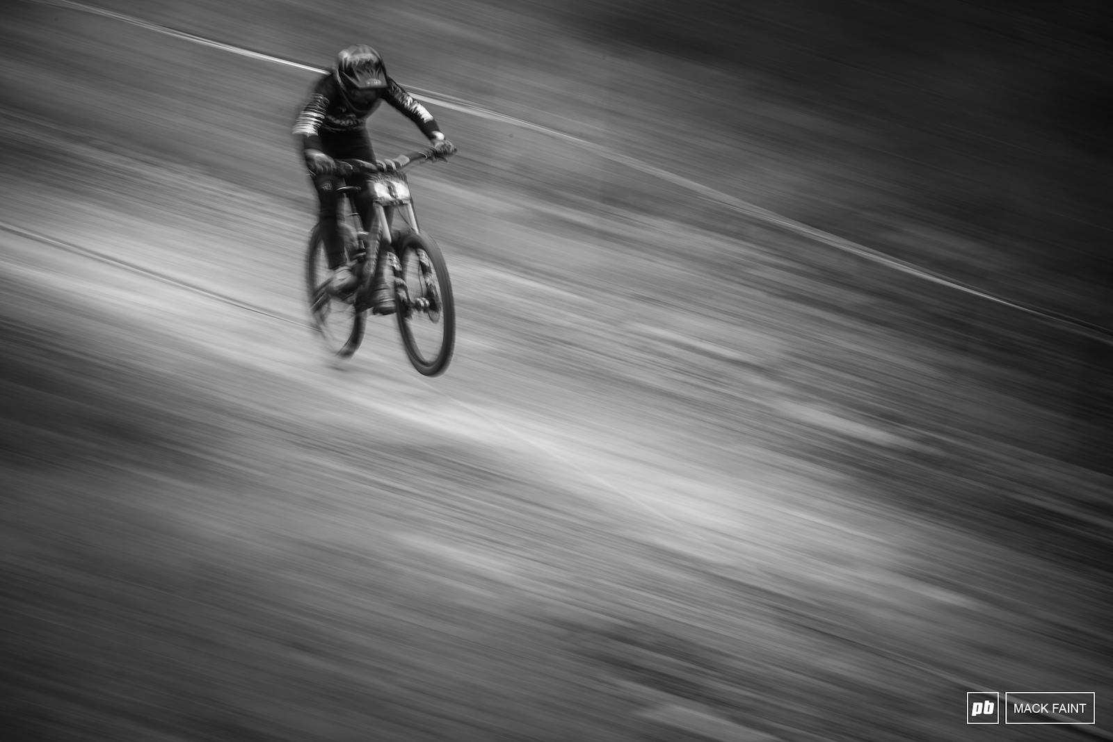 Jake speeding to the finish on sunday aftternoon.