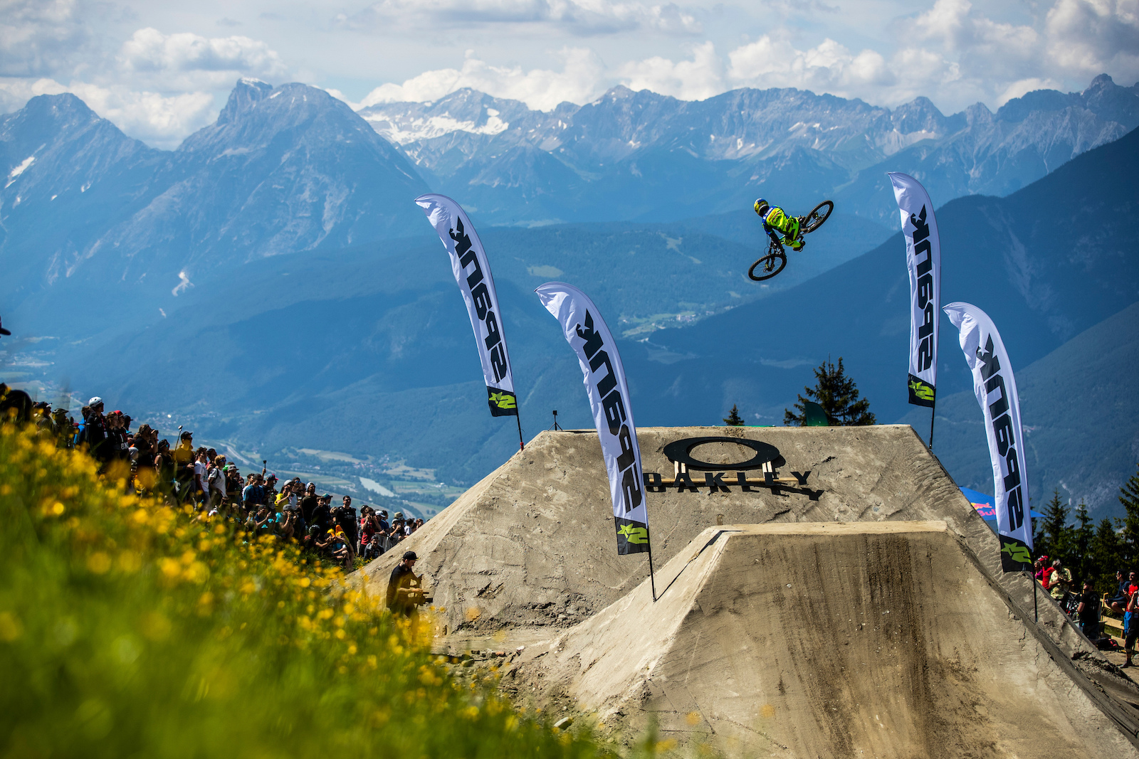during the Innsbruck Crankworx World Tour