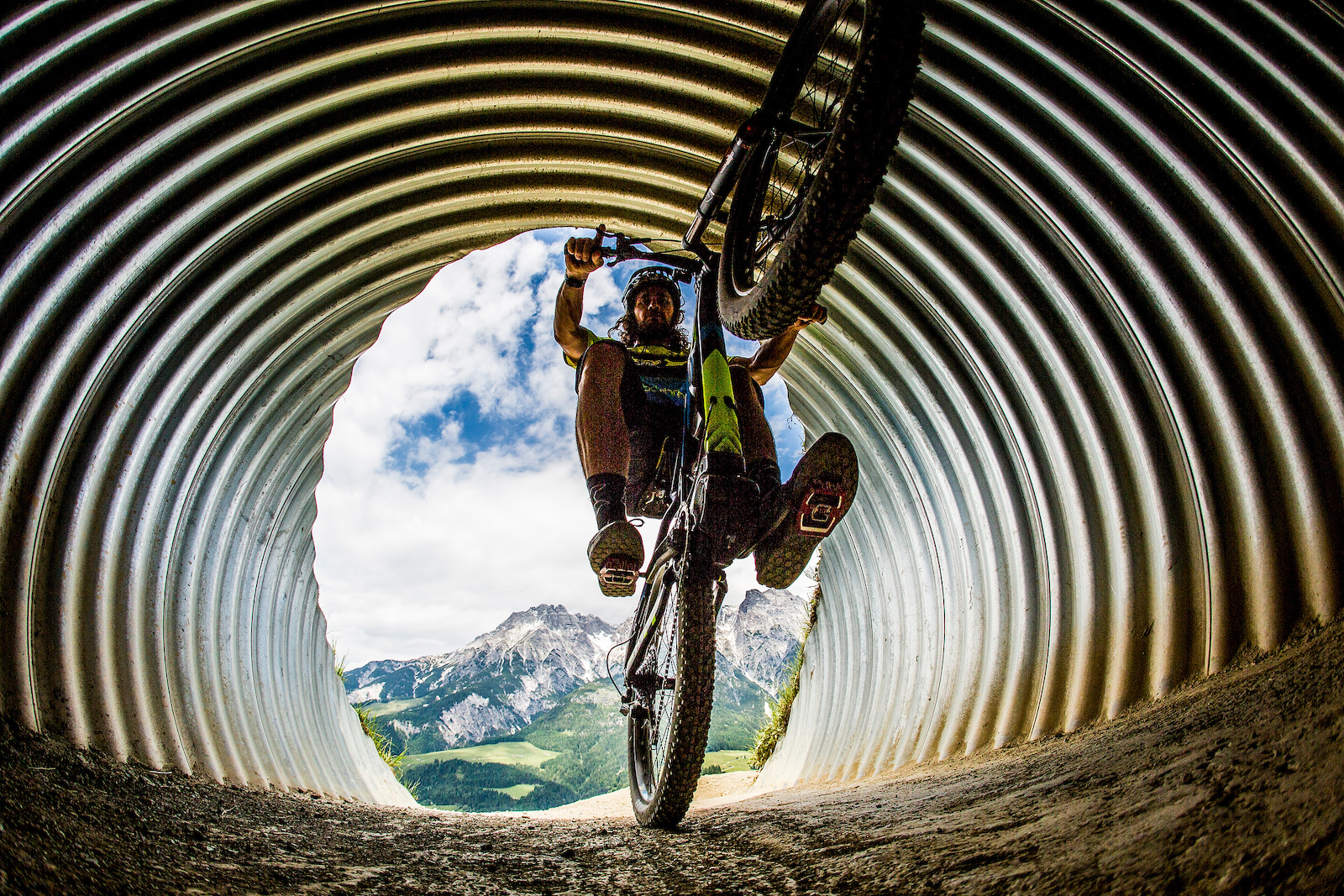 During the Leogang UCI MTB DH World Cup