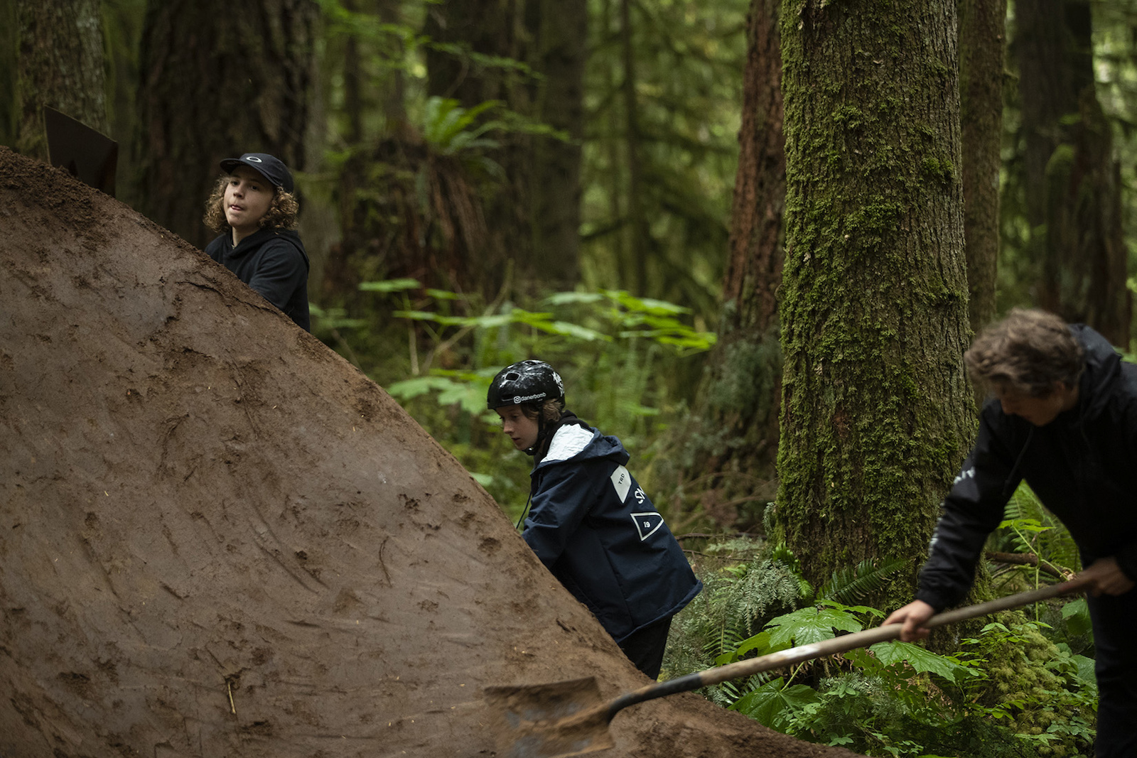 Jackson Goldstone with Jakob and Dane Jewett in Squamish British Columbia Canada
