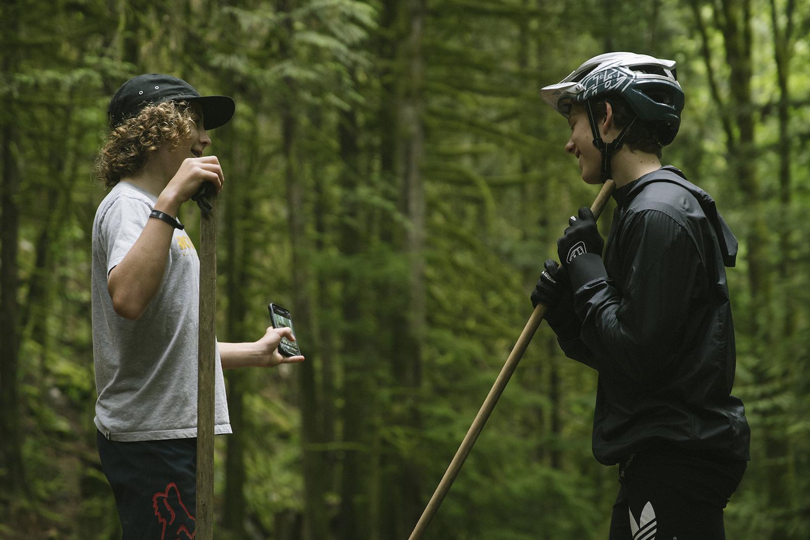 Jackson Goldstone and Jakob Jewett in Squamish British Columbia Canada