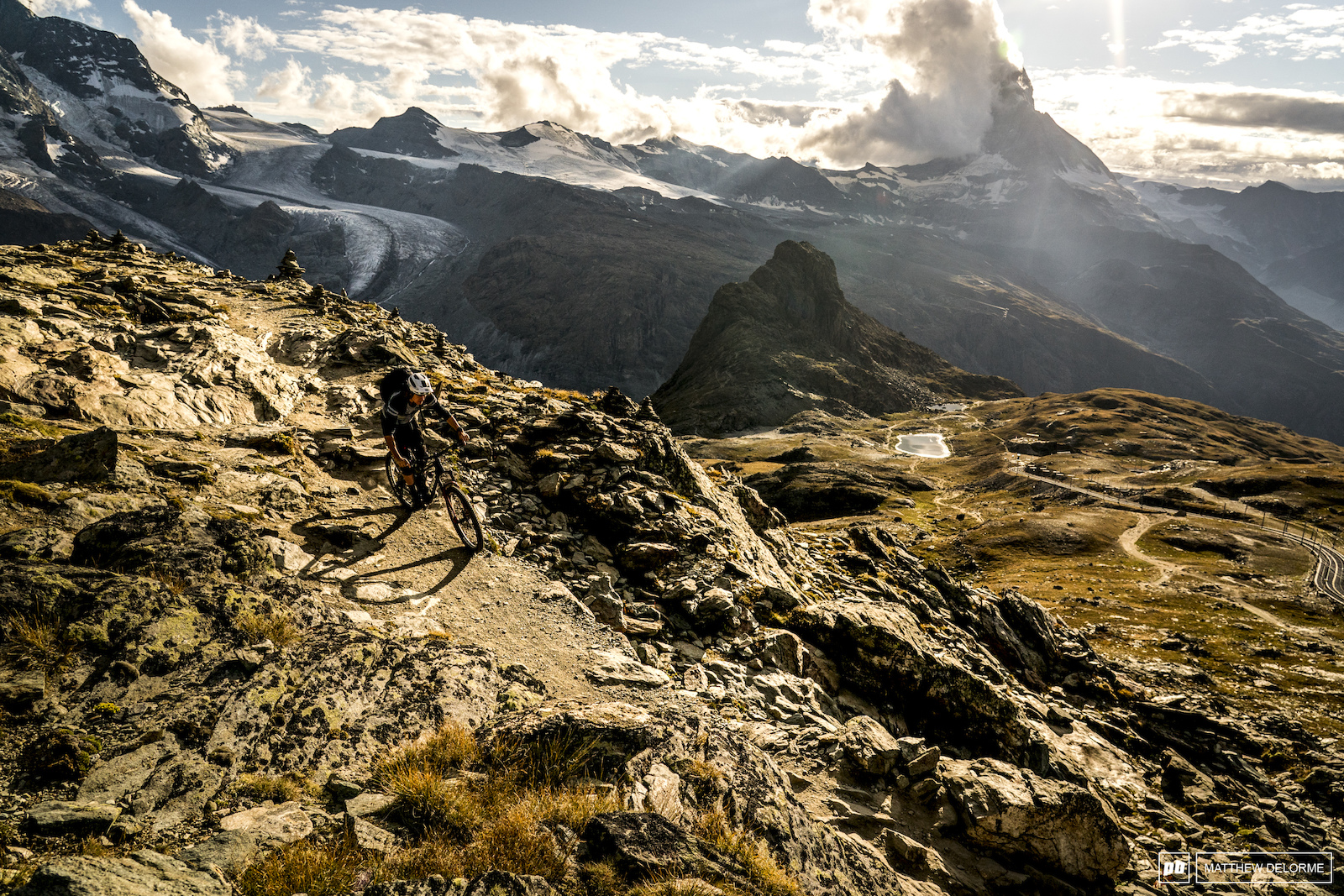 Steep and rough terrain with epic views sums up Zermatt. Though the views come race day may be obscured by clouds and rain.