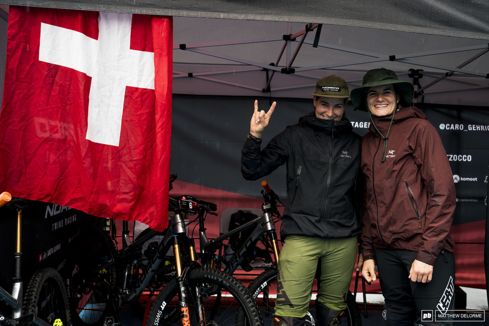 Anita and Caro Gherig are stoked to be racing at home.