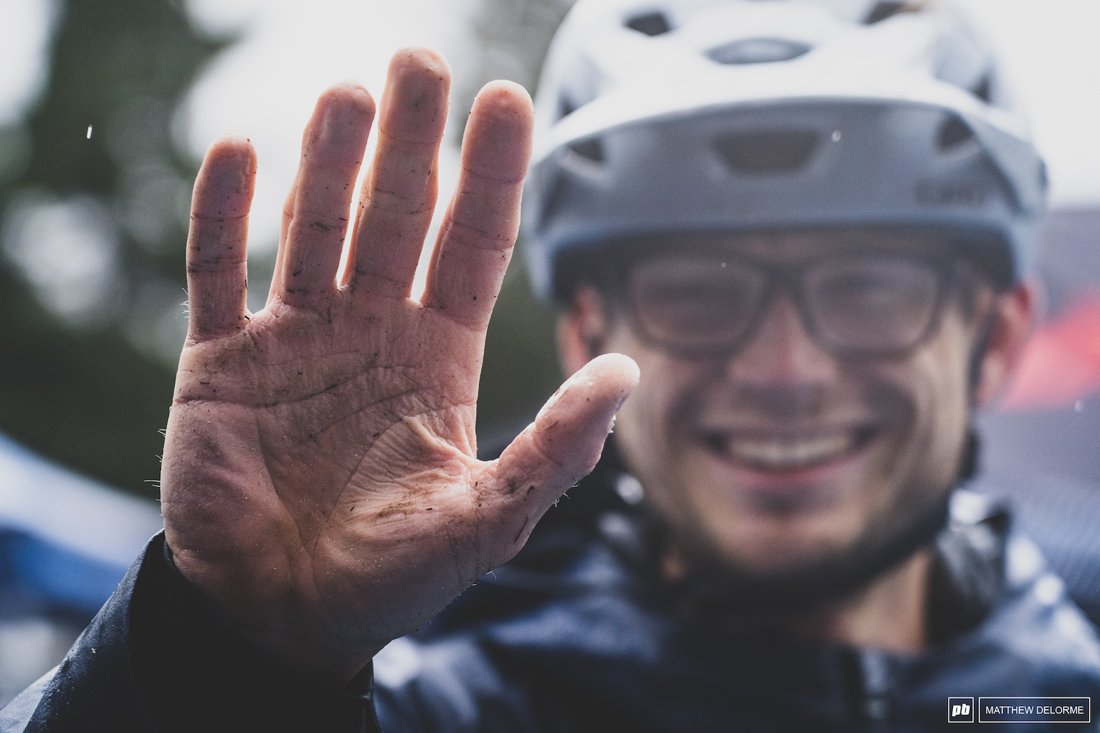 Duncan Philpott- all smiles and prune hands.