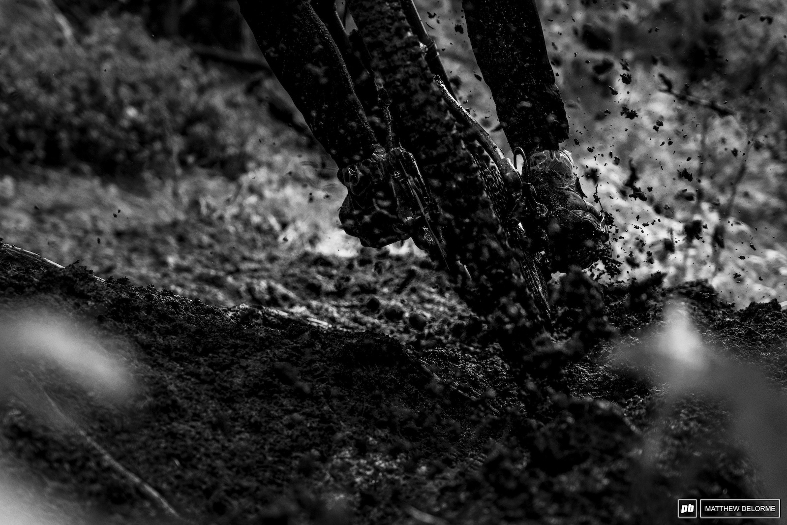 The mud was flying on lower stage one.