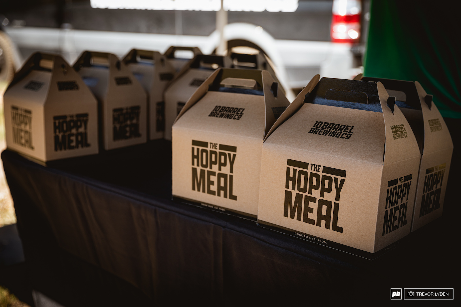 10 Barrel provided Hoppy Meals for the riders after a long day of shredding.