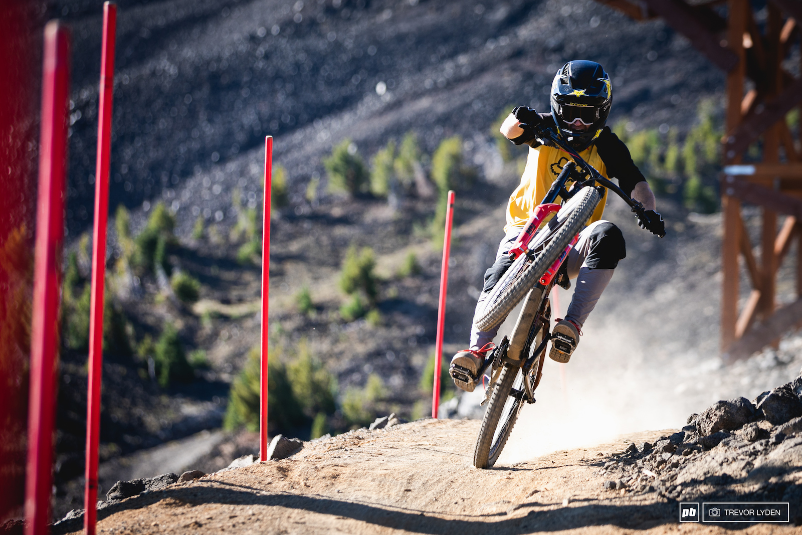 Cam McCaul with a power wheelie.