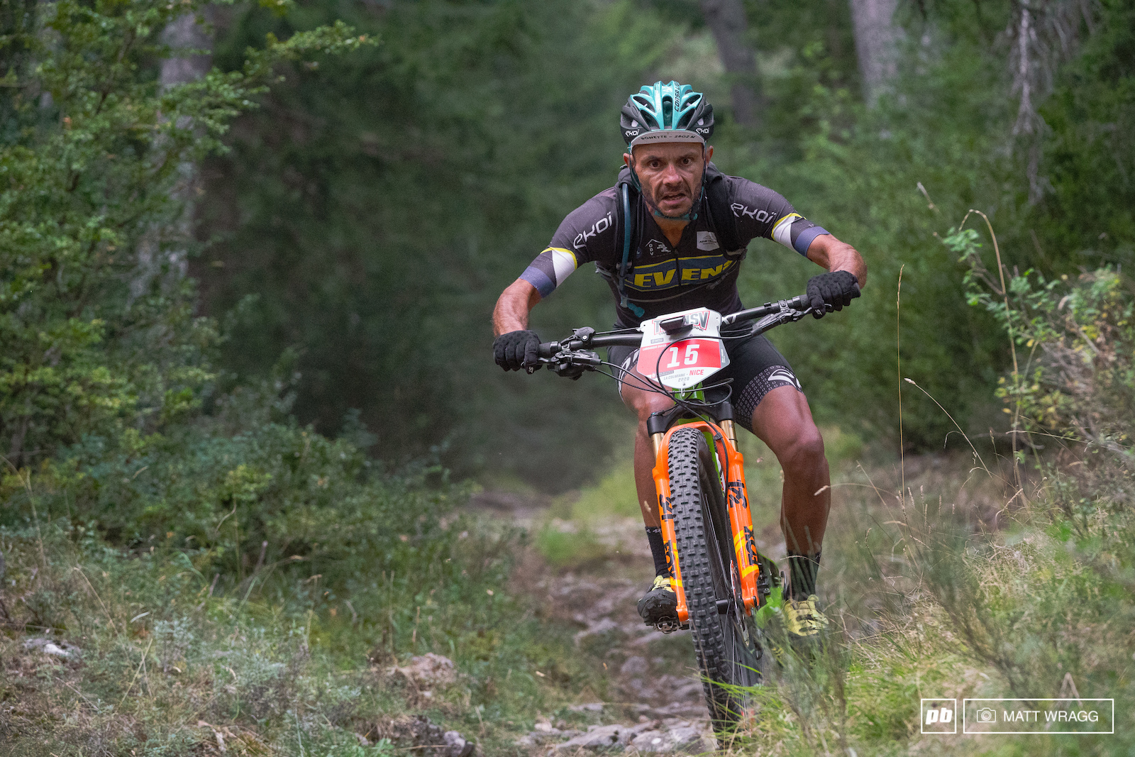 Didier Langasque hanging it all out in the Masters 40 category.