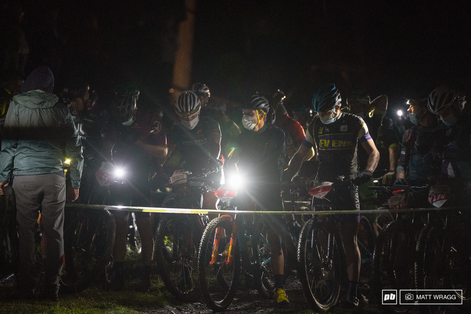It looked like a nervous wait on the start line.