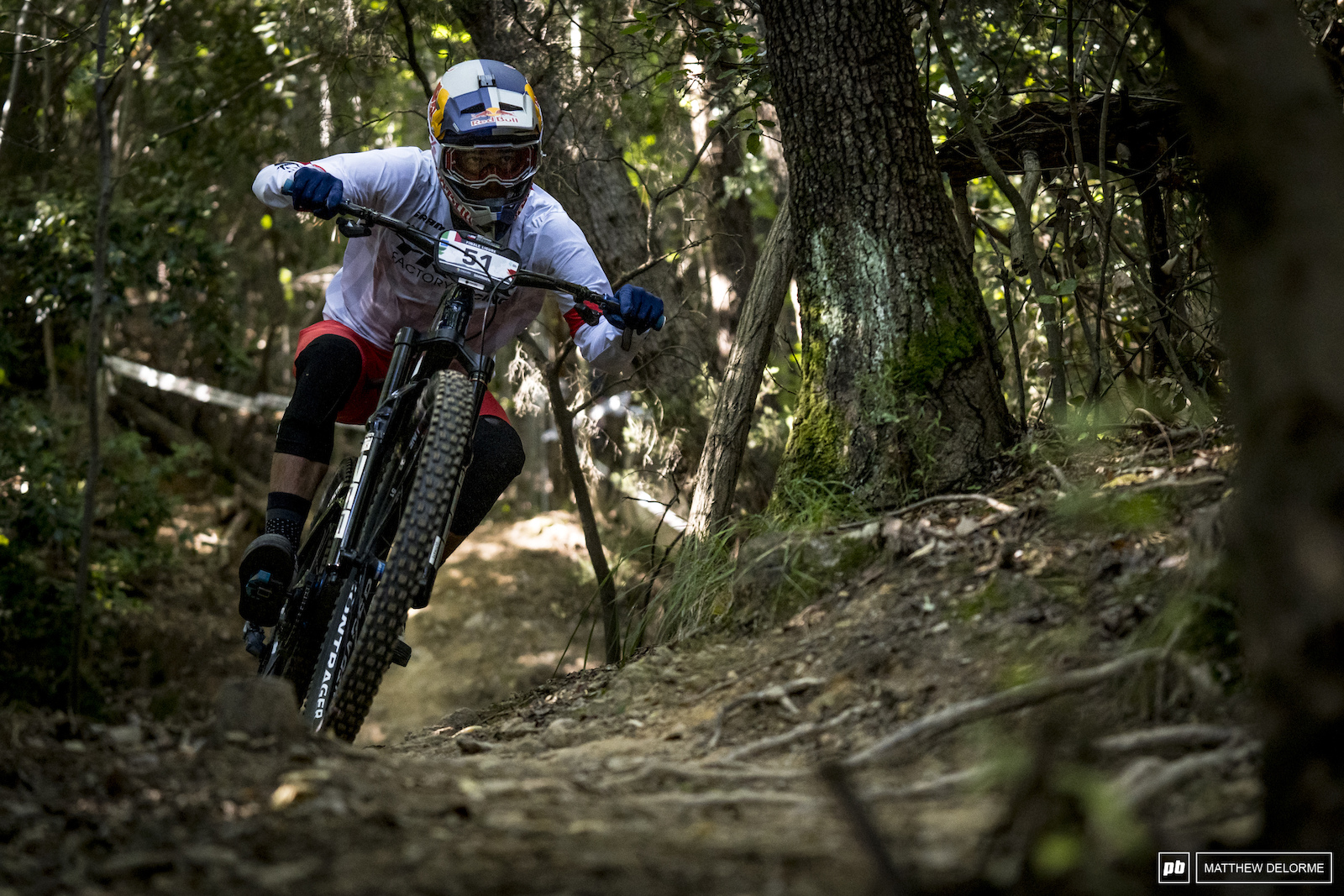 Pedro Burns was having a solid day and finished stage 2 in 11t place but clipped a pedal and went over the bars. Burns finished 22nd.