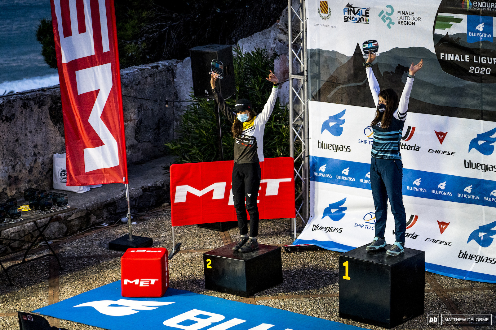 U21 Women podium. Hattie Harnden Sophie Riva.