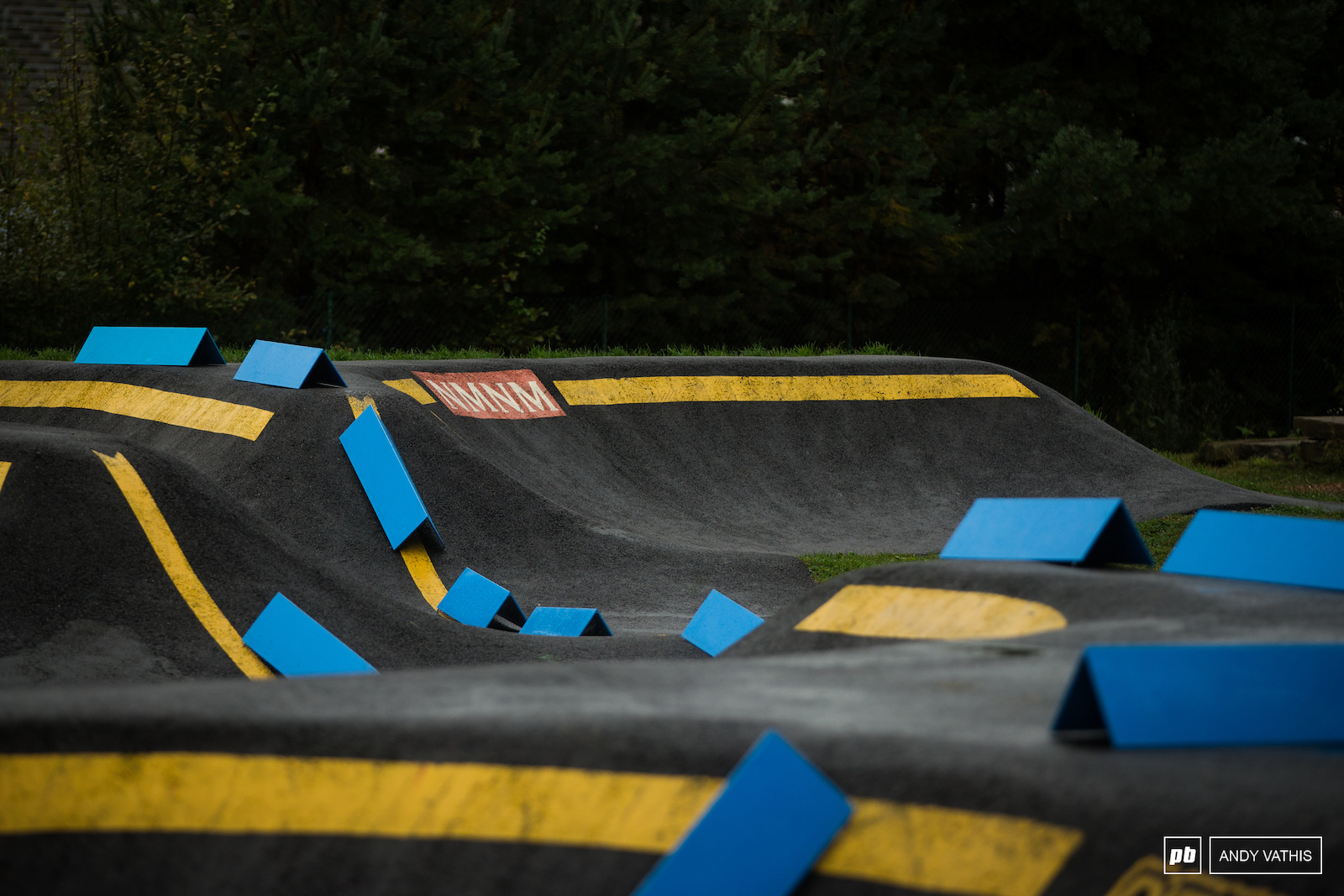 The pumptrack is once again part of the lower section of the course with a slightly different configuration.
